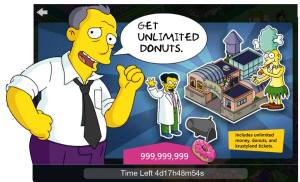 The Simpsons tapped out cheats for free doughnuts